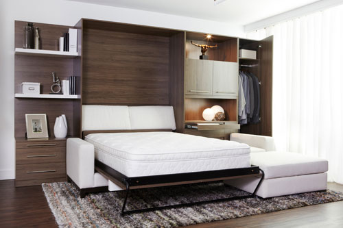 magazine prestige des lits escamotables qui s harmonisent au d cor. Black Bedroom Furniture Sets. Home Design Ideas