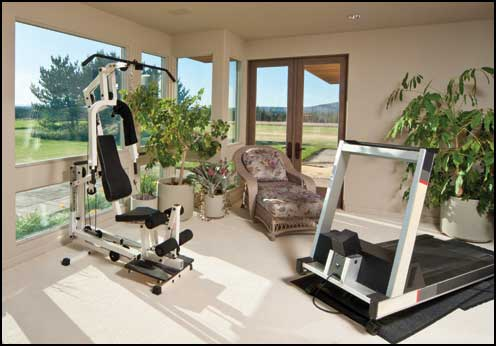magazine prestige tous les bienfaits d un gym la maison. Black Bedroom Furniture Sets. Home Design Ideas
