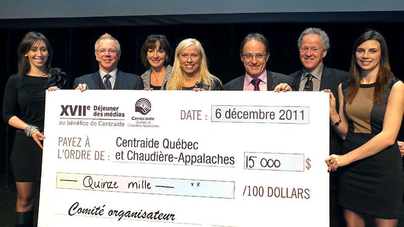 15000$ pour Centraide Québec Chaudière-Appalaches