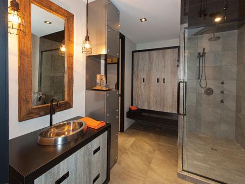 Salle de bain en bois de grange meilleure inspiration for Miroir bois de grange