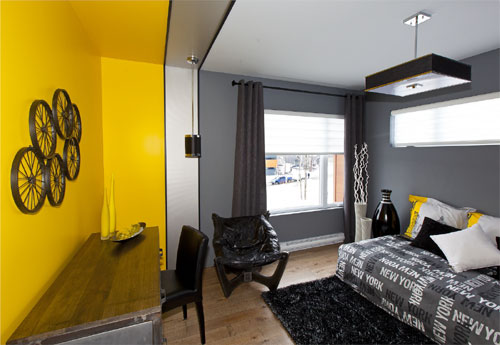 chambre jaune pour petit gar on. Black Bedroom Furniture Sets. Home Design Ideas